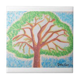 Árbol de la Vida-teja Azulejo Cuadrado Pequeño