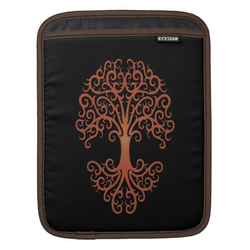 Árbol de la vida tribal Brown en negro Funda Para iPads