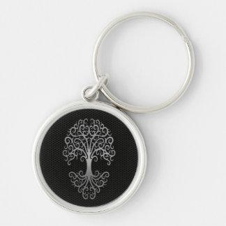 Árbol de la vida tribal con el efecto de acero de llaveros personalizados