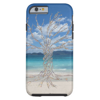 Árbol de la vida y de la playa funda de iPhone 6 tough