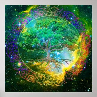 Árbol de la vida y de la salud póster