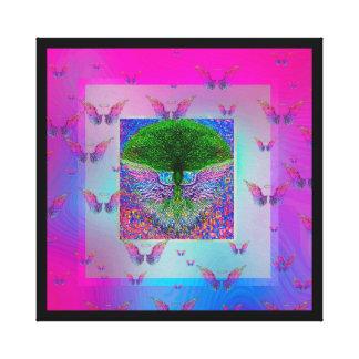 Árbol de la vida y de las alas del ángel del arco  impresiones en lona