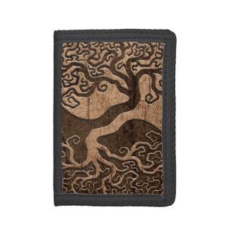 Árbol de la vida Yin Yang con el efecto de madera