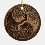 Árbol de la vida Yin Yang con el efecto de madera  Adornos