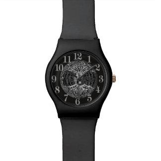 Árbol de la vida Yin Yang en blanco y negro Relojes De Mano