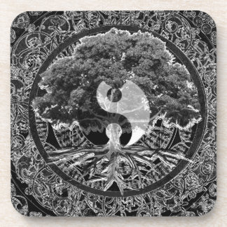 Árbol de la vida Yin Yang Posavasos
