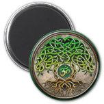 Árbol de la yoga de la vida imán para frigorífico