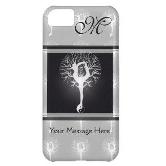 Árbol de la yoga en blanco y negro funda para iPhone 5C