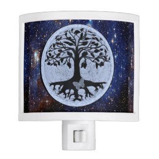 Árbol de las estrellas de la vida lámpara de noche