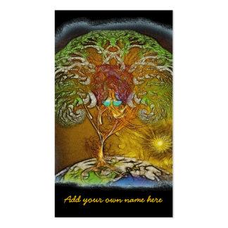 Árbol de las ilustraciones de la vida tarjetas de visita