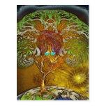 Árbol de las ilustraciones de la vida tarjetas postales