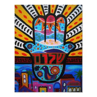 ÁRBOL de las invitaciones del mitzvah del palo de Anuncio