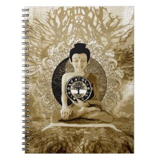Árbol de las religiones del mundo de la meditación libreta