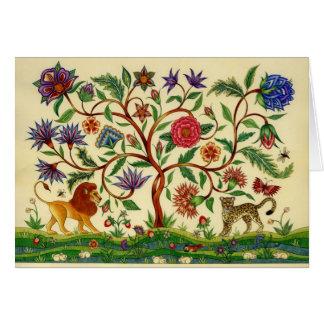 Árbol de las tarjetas en blanco del ~ de la vida