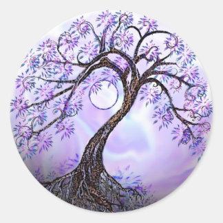 Árbol de Lavendar de la vida Pegatinas