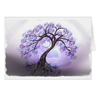 Árbol de Lavendar de la vida Tarjeta De Felicitación