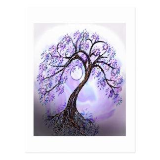 Árbol de Lavendar de la vida Postal