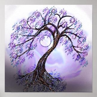Árbol de Lavendar del poster de la vida