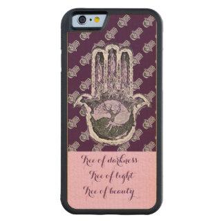 Árbol de ligero y de la oscuridad (púrpuras) funda de iPhone 6 bumper arce