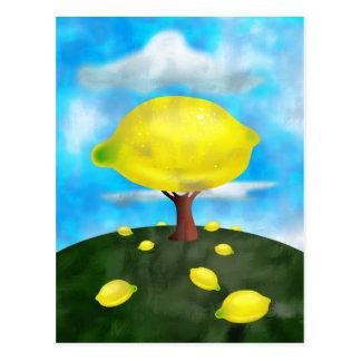 Árbol de limón postal