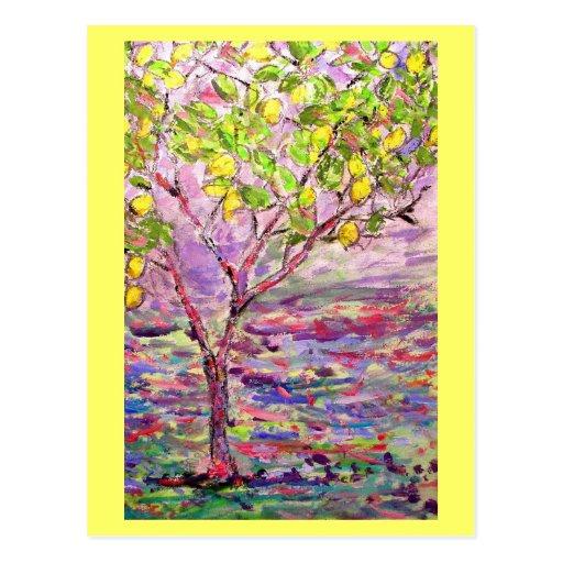 árbol de limón postales
