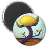 Árbol de limón surrealista iman para frigorífico