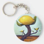 Árbol de limón surrealista llavero