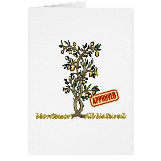Árbol de limón tarjeta de felicitación