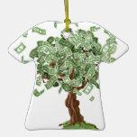 Árbol de los ahorros del dinero ornamento para arbol de navidad