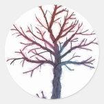 Árbol de los alambres etiqueta redonda