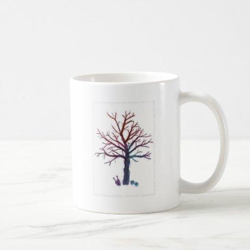 Árbol de los alambres taza de café