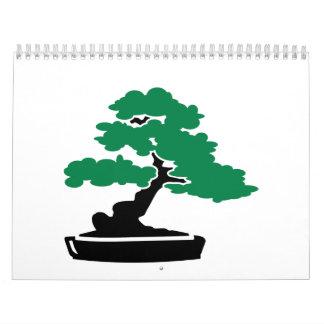 Árbol de los bonsais calendario