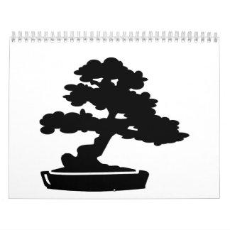 Árbol de los bonsais calendarios de pared