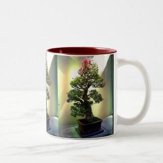 Árbol de los bonsais del Bougainvillea Taza De Café