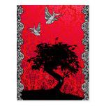 Árbol de los bonsais del tatuaje del amor postal