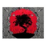Árbol de los bonsais del tatuaje del amor tarjeta postal