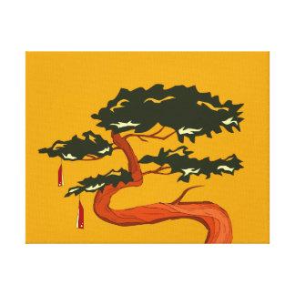 Árbol de los bonsais impresión en lona estirada