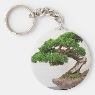 Árbol de los bonsais natural llavero redondo tipo pin