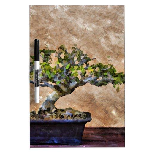 Árbol de los bonsais pizarras blancas de calidad