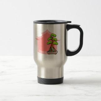 Árbol de los bonsais taza de viaje de acero inoxidable