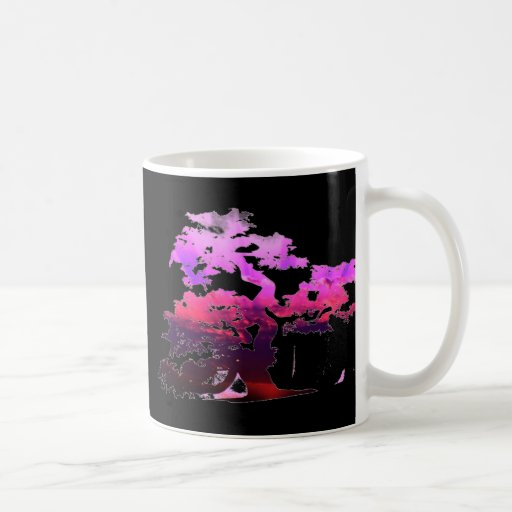 Árbol de los bonsais taza básica blanca