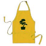 árbol de los bonsais (verde) delantal