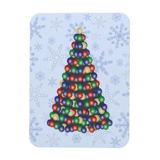 Árbol de los bulbos del navidad en ventisca del iman flexible