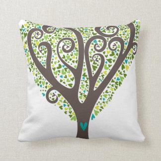 Árbol de los corazones cojin
