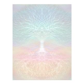 Árbol de los corazones del arco iris de la vida flyer personalizado
