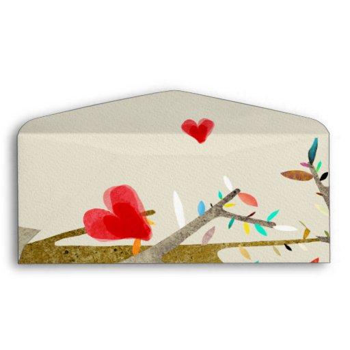 Árbol de los corazones del sobre del boda