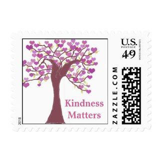 Árbol de los corazones - materias de la amabilidad timbre postal