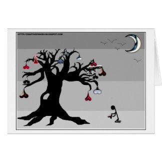 Árbol de los corazones tarjeta de felicitación