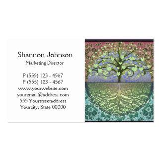 Árbol de los corazones y del amor de la vida tarjetas de visita