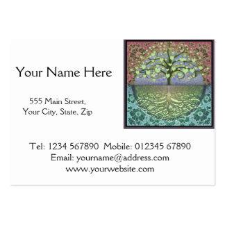 Árbol de los corazones y del amor de la vida tarjetas de visita grandes